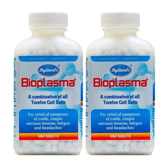 Hyland's Bioplasma Tablets, 1000 Tablets (Pack of 2)
