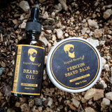 Beard Oil and Beard Balm Kit for Men Care - Unscented Leave in Beard Conditioner, Beard Butter, Mustache Wax Softener Gift set - Beard & Mustache Styling, Shaping, Grooming & Growth