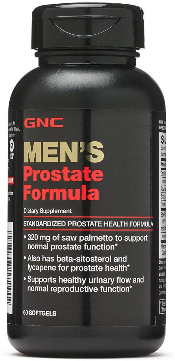 GNC Men's Prostate Formula, 60 Softgels, Supports Normal Reproductive Function