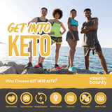 Get Into Keto - Exogenous Ketone Beta Hydroxybutyrate (BHB) for Men and Women - Supercharge Ketosis & Manage Cravings , 60 ct