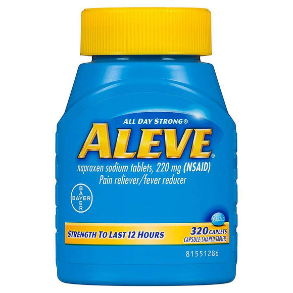 Aleve ALL DAY Strong Pain/fever Reducer Naproxen Sodium Tablets , 220 Mg (Nsaid) - 320 Caplets by USA