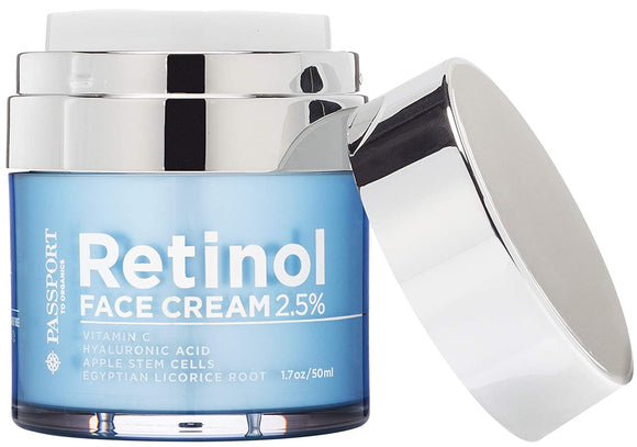Passport to Organics Retinol 2.5% High Potency Anti-Aging Cream, 1.7oz