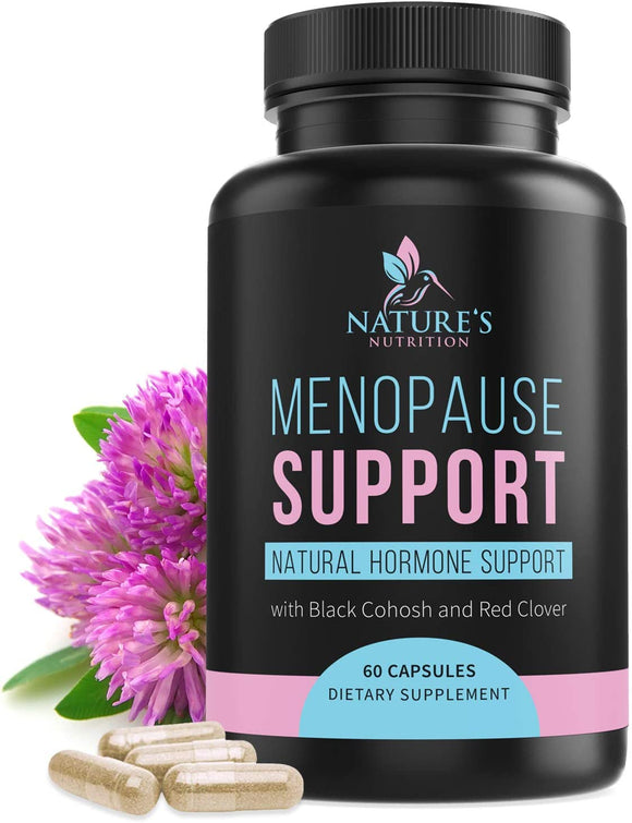 Menopause Supplements Extra Strength Hot Flash Support 1256 mg - Menopause Support for Women - Made in USA - Natural Pills w/Black Cohosh, Dong Quai & Soy Isoflavones - 60 Capsules