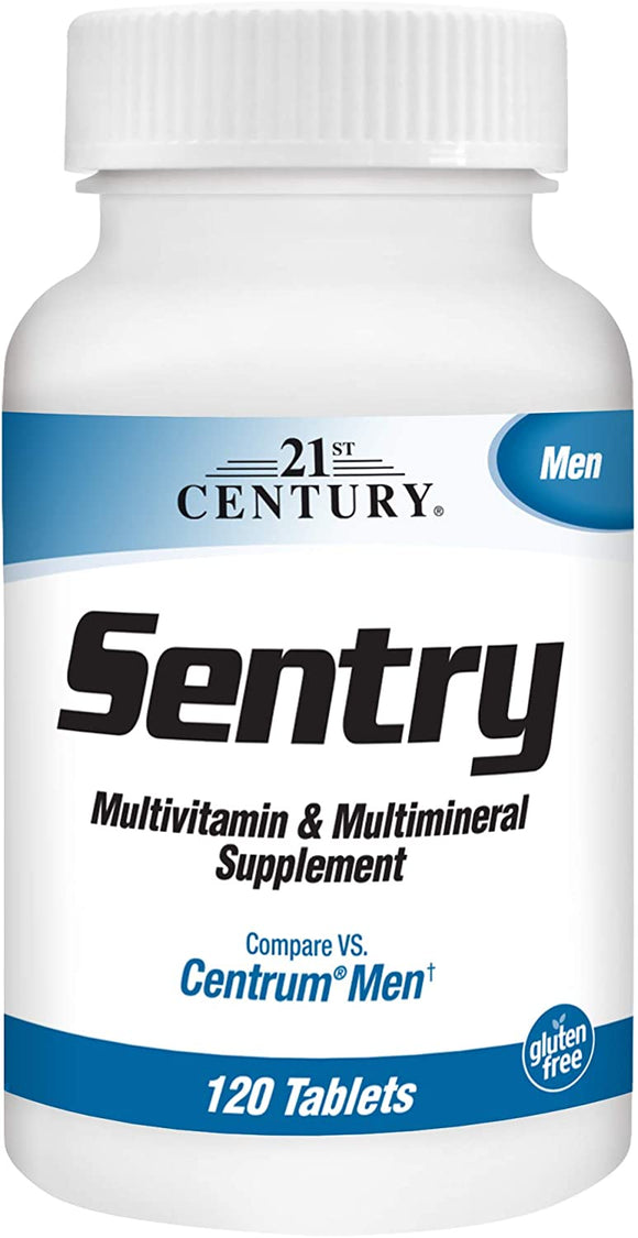 21st Century Sentry Men Multivitamins with Minerals, 120Count, White
