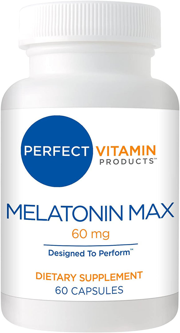 High Dosage Melatonin 60mg,Melatonin Max Ensures an Ample Supply of This Important Hormone, 60 Capsules
