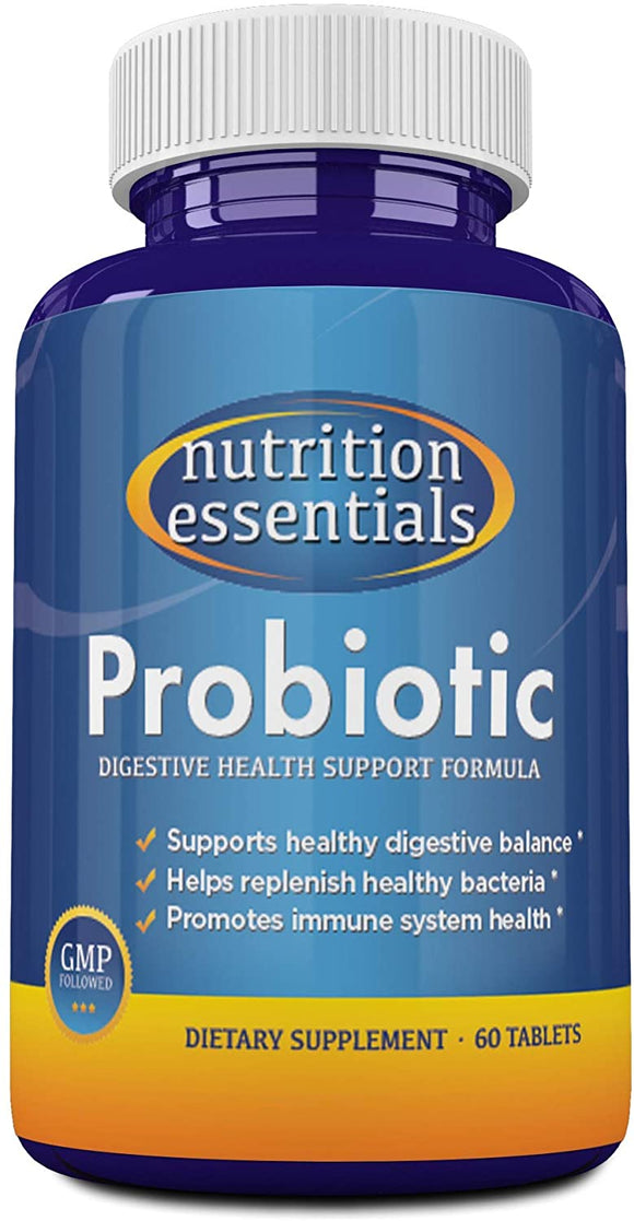 #1 BEST Probiotic Supplement - 900 BILLION CFU Probiotics - Nutrition Essentials Highest Rated Acidophilus Probiotic for Women and Men - Organic Shelf Stable Probiotic for Digestive Health - Highest CFU's - 100% Money Back Guarantee