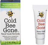 Cold Bee Gone Nasal Swab Cold and Flu Symptom Remedy w/Manuka Honey - 100+ Doses - All Natural for Kids and Adults