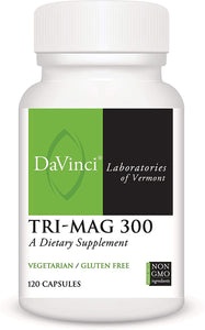 Davinci Laboratories - Tri-Mag 300, Magnesium Support, 120 Capsules, Vegetarian, Non-GMO Ingredients