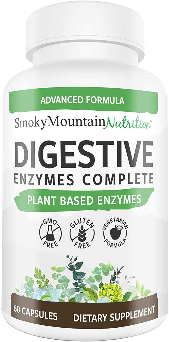 Digestive Enzymes Supplement for Digestion, Flatulence, Lactose Absorption, Constipation, Gas Relief, IBS Support and Bloating* - 60 Vegetarian Capsules