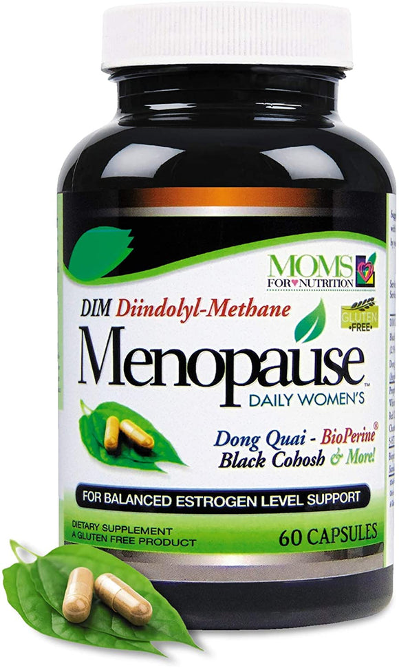 Estrogen Balanced with 200mg DIM for Women - Daily Women's Menopause Relief Formula by Moms For Nutrition - Plus Dong-Quai and BioPerine – Supports The Reduction of Hot Flashes and Night Sweats