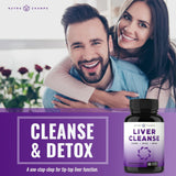 Liver Cleanse Detox & Repair Formula - 25+ Herbs: Milk Thistle Extract with Silymarin, Artichoke, Dandelion, Chicory Root Powder & More! - Premium Liver Support Pills Supplement - 60 Capsules