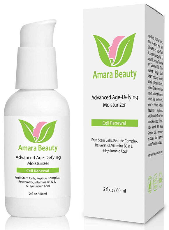 Anti Aging Face Cream Moisturizer with Resveratrol & Peptides, 2 fl. oz.