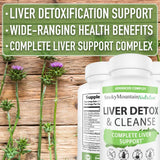 Liver Detox and Repair* Formula (60 Capsules) 22 Herbs Liver Support Supplement with Milk Thistle, Beet Roots, Artichoke, Dandelion, Chicory Root, and More - Liver Supplements for Men and Women