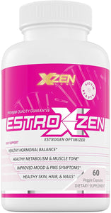 XZEN Estroxzen Estrogen Balance & Menopause Relief for Women - Female Endocrine Support - Relieves PMS, Natural Energy, Manage Mood Swings, Hot Flashes and More - 60 Veggie Capsules