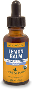 Herb Pharm Certified Organic Lemon Balm Liquid Extract for Calming Nervous System Support, Alcohol-Free Glycerite, 1 Oz