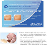 "Aroamas Professional Silicone Scar Sheets, Soften and Flattens Scars Resulting from Surgery, Injury, Burns, Acne, C-section and more, Soft Silicone Scar Strips, 3""×1.57"", 8 Sheets (4 Month Supply)"