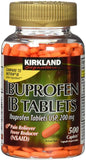 Kirkland Signature Ibuprofen IB 200 mg, 1 Bottle, 500 Count Tablets