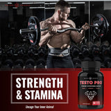 Premium Testosterone Booster for Men - Powerful Stamina, Strength, Energy & Endurance Supplement - Supports Healthy Test Training & Natural T Levels - 90 Vegan Capsules