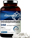 DIM Plus as Diindolylmethane, DIM Capsules, DIM 300mg, 180 Counts, with Black Pepper for Better Absorption, Supports Menopause Relief, No GMOs