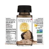 Sabatino Tartufi Truffle Zest Seasoning, The Original All Purpose Gourmet Truffle Powder, Plant Based, Vegan and Vegetarian Friendly, Kosher, Low Carb, Keto, Non GMO Project Certified