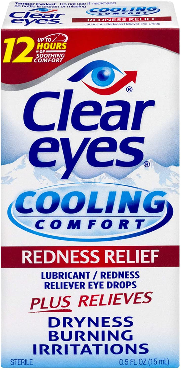 Clear Eyes Eye Drops, Cooling Comfort Redness Relief , 0.5 oz