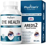Areds 2 Eye Vitamins (Clinically Proven LuteMax 2020) Lutein and Zeaxanthin Supplement, Supports Eye Strain, Dry Eye and Vision Health, 2 Award Winning Eye Ingredients Plus Bilberry Extract