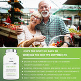 Vitalifi Detoxifi Liver Detox Supplement & Estrogen Blocker- DIM Detox & Hormone Balance for Women & Men with 7 Rigorously Studied, Vegan Approved, Soy Free & Non-GMO Ingredients- Brain Fog Supplement