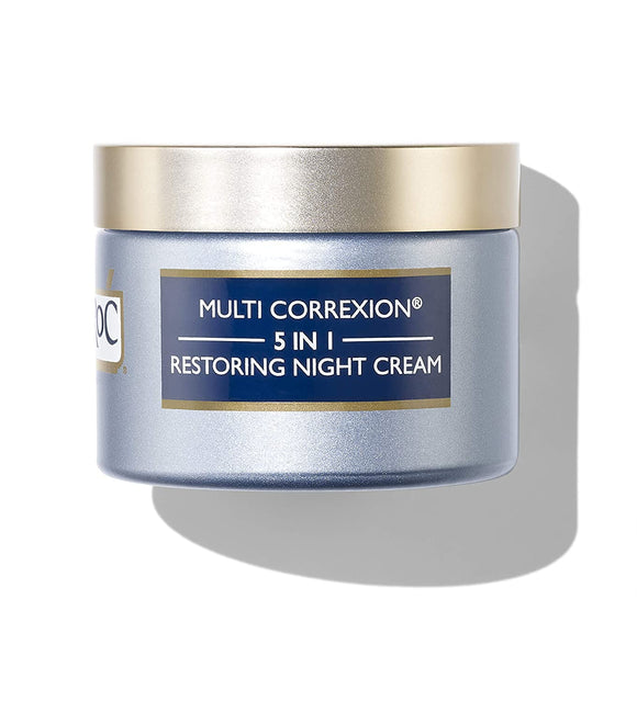 RoC Multi Correxion 5 in 1 Restoring Anti-Aging Facial Night Cream with Hexyl-R, 1.7 Ounces