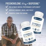Pregnenolone 50mg 90 Capsules (3 Month Supply) Supports Memory, Mood, Weight Loss, Hormone Balance, Healthy Aging and Immune System*. Gluten-Free, Vegetarian & Non-GMO