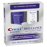 Crest 3D White Brilliance 2 Step Kit, Deep Clean Toothpaste (4oz) + Teeth Whitening Gel (2.3oz)