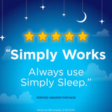 Simply Sleep Nighttime Sleep Aid Caplets with 25 mg Diphenhydramine HCl, Non-Habit Forming, 100 ct