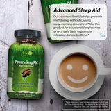 Irwin Naturals Power to Sleep PM - Relaxing Blend of Melatonin, GABA, Ashwagandha, Valerian, L-Theanine & More - Calm Mind & Body - 120 Liquid Softgels
