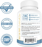 Zinc Glycinate Chelate 30 mg Supplement (120 Capsules) TRAACS Chelated Bisglycinate Zinc, Vitamin B6 & BioPerine - Zinc Supplements for Immune Support, Prostate Health, Acne & Metabolism*
