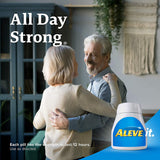 Aleve Tablets with Naproxen Sodium, 220mg (NSAID) Pain Reliever/Fever Reducer, 50 Count