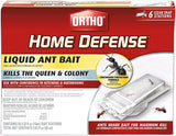 Ortho Home Defense Liquid Ant Bait - Kill the Ant Colony and the Queen, Use for Indoor Protection, Includes 6 Ant Trap Stations, 2.02 fl. oz.