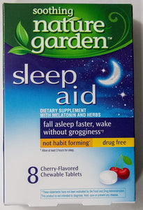 Soothing Nature Garden Sleep Aid Remedy (4 Boxes - Total 32 Cherry tablets)
