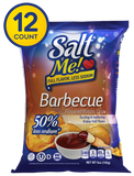 SaltMe! Potato Chips Full Flavor 50% Less Sodium - Barbeque Flavor - 5oz Pack of 12