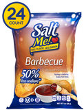 SaltMe! Potato Chips Full Flavor 50% Less Sodium - Barbeque Flavor - 1oz - 24ct case