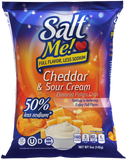SaltMe! Potato Chips Full Flavor 50% Less Sodium - Assorted Box - 5oz Pack of 12 (3 Bags of Each Flavor)