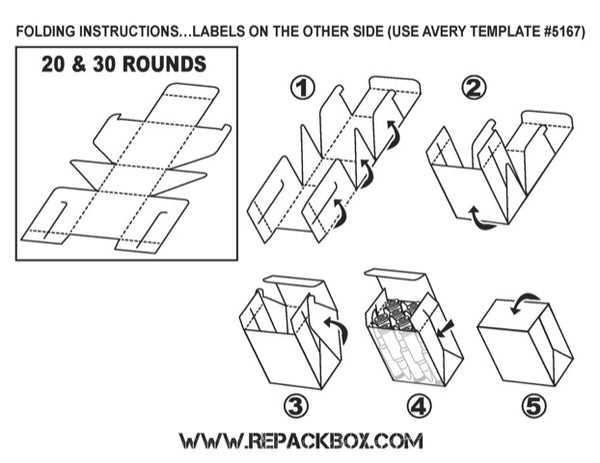 RepackBox Ammo Box Folding Instructions for 30-30 ammo