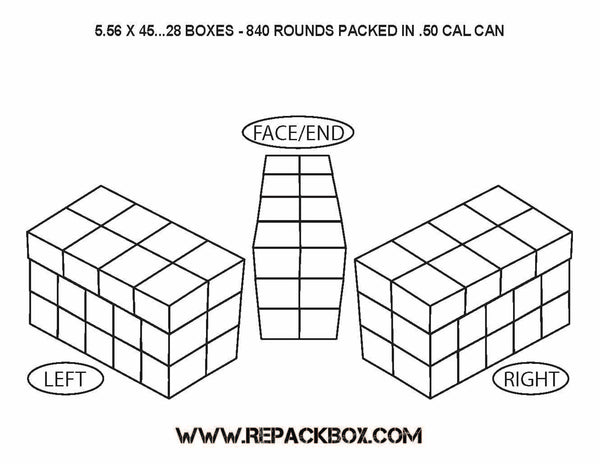 3 Sample Ammo Boxes: 5.56 X 45 & .223