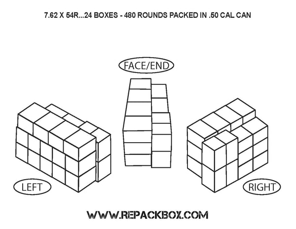 3 Sample Boxes: 7.62 X 54R