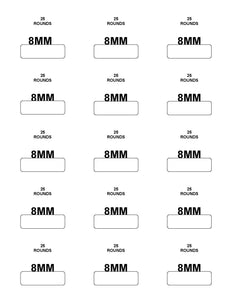 Labels: 8MM Mauser - 25 Rounds
