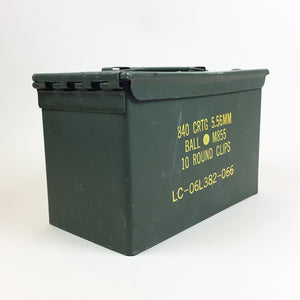 LAST 2 CASES - SPECIAL PRICE - USED GRADE A- U.S.G.I. M2A1 .50 Caliber Ammo Can - Case of 12 - $7.95 Each