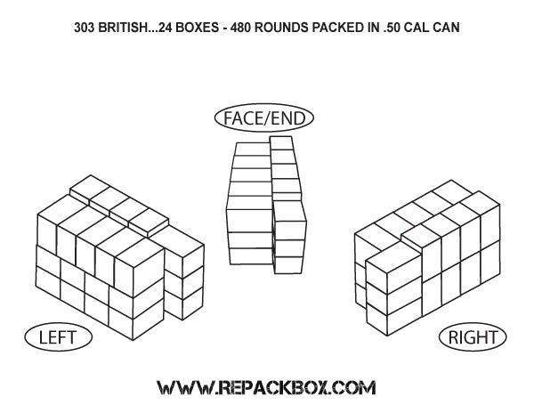 3 Sample Ammo Boxes: 303 British