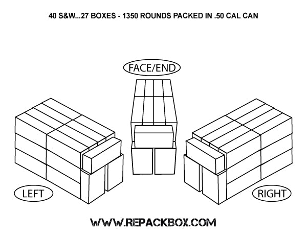 3 Sample Ammo Boxes: 40 S&W