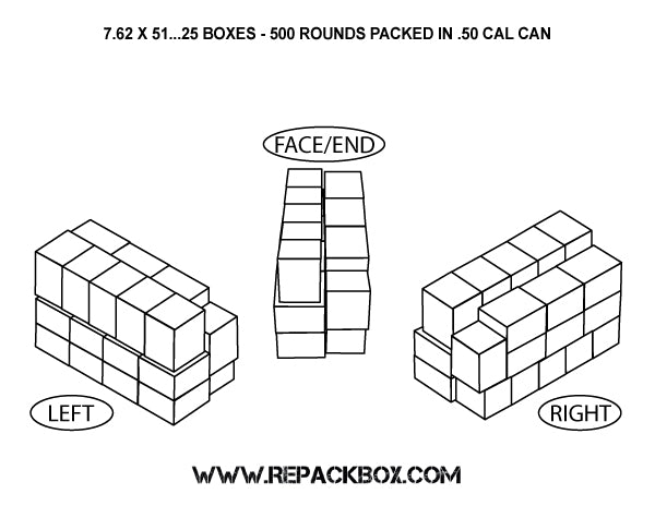3 Sample Ammo Boxes: 7.62 X 51 & .308