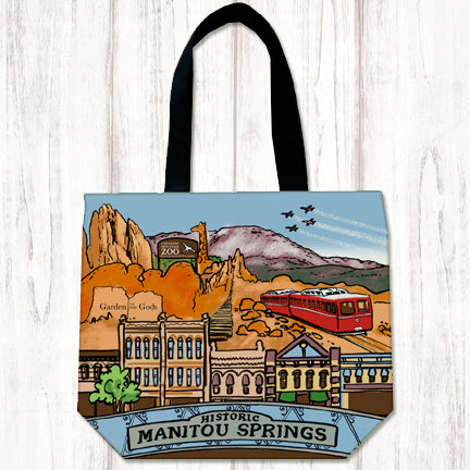 Manitou Springs canvas tote
