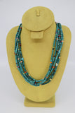 5-strand turquoise Santo Domingo necklace with multi-color stones