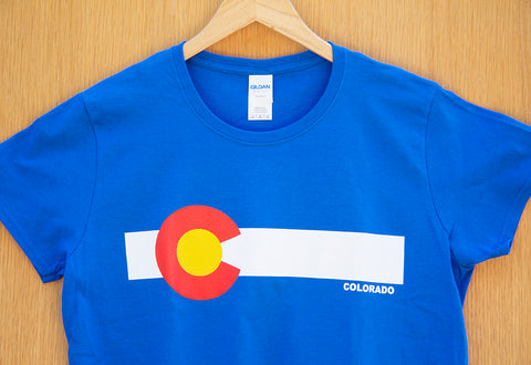 Colorado Logo T-shirt In Blue.